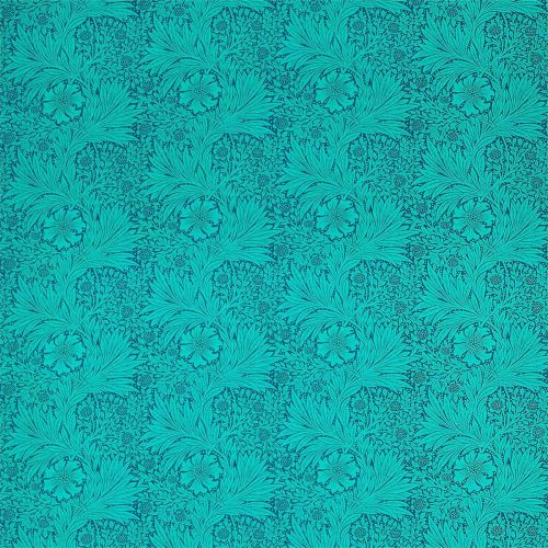 Marigold Navy Blue and Turquoise Fabric