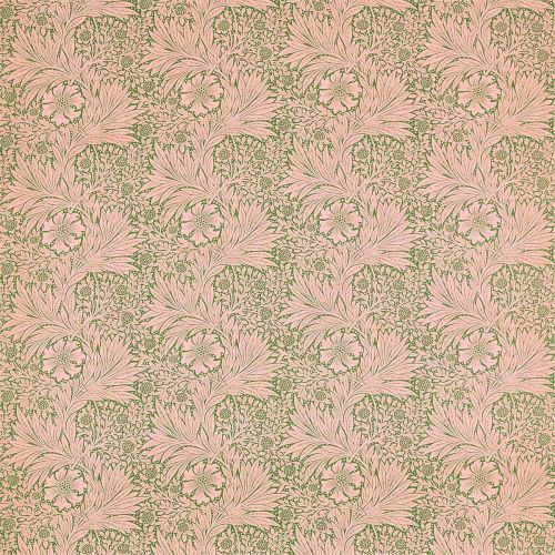 Marigold Olive Green and Pink Fabric