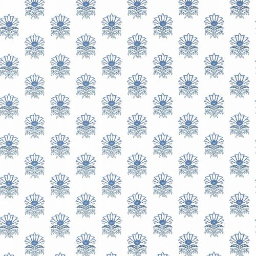 Milford Wallpaper in Blue Floral