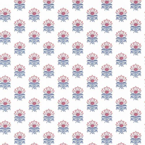 Milford Wallpaper in Red and Blue Floral