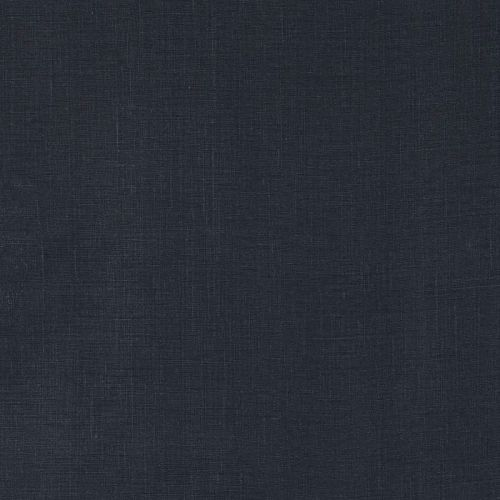Mimi Plain Linen Fabric Black Navy