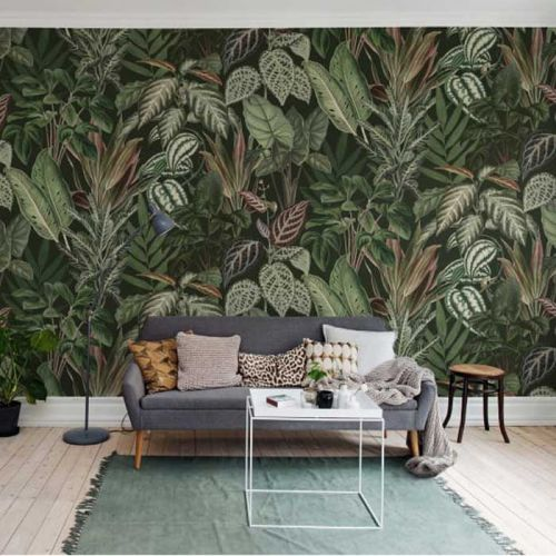 Tree and Leaf Mural Wallpaper