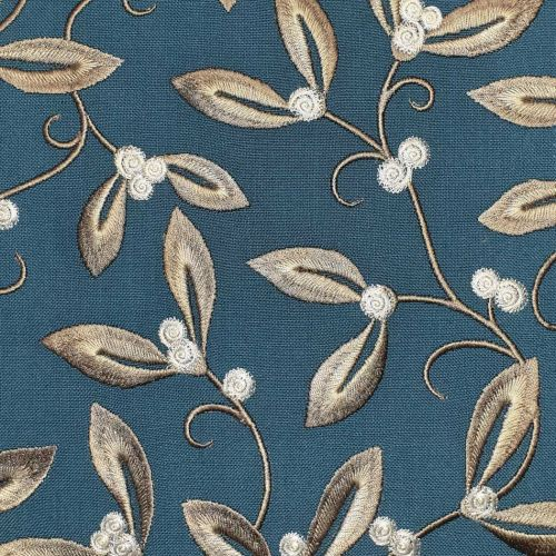 Mistletoe Embroidery Fabric
