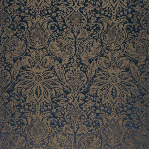 Mitford Weave Blue Damask Fabric