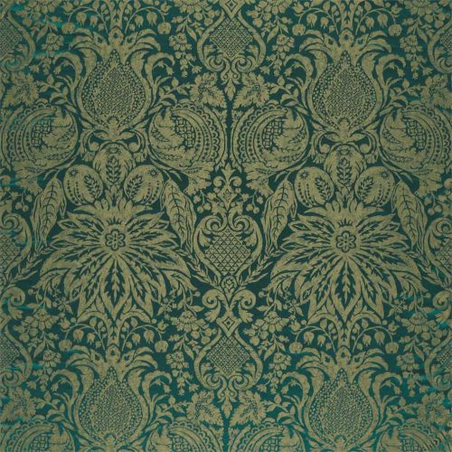 Mitford Weave Green Damask Fabric