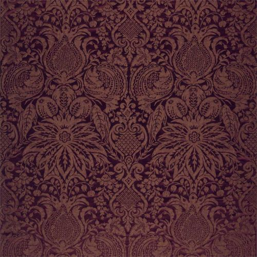 Mitford Weave Wine Red Damask Fabric