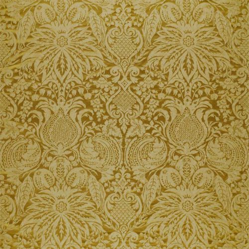Mitford Weave Yellow Damask Fabric