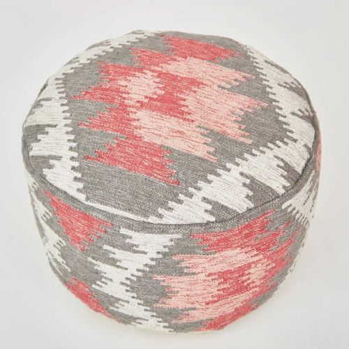 Pink and Grey Footstool