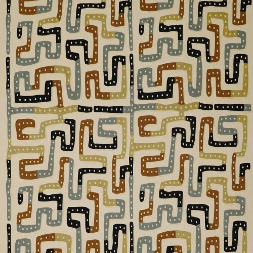 Moonstone Embroidered Fabric Earth Tones Neutral