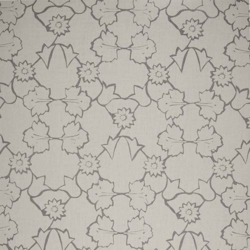 Naked Angelica Linen Fabric Grey Floral