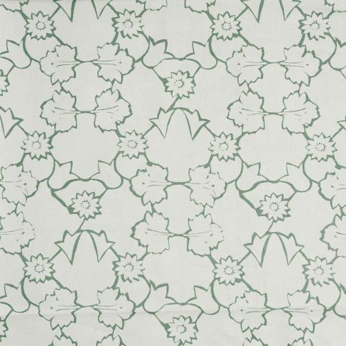 Naked Angelica Linen Fabric Moss Green Floral