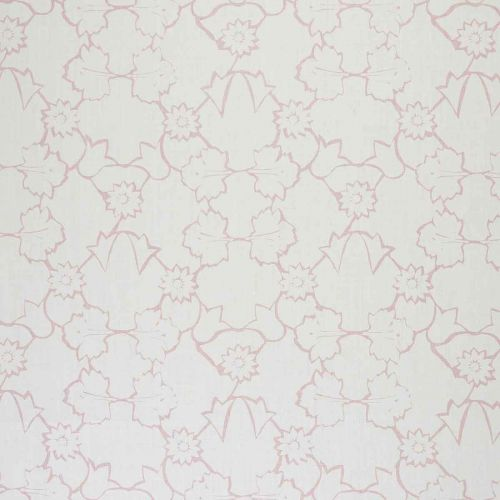 Naked Angelica Linen Fabric Pink Floral Printed