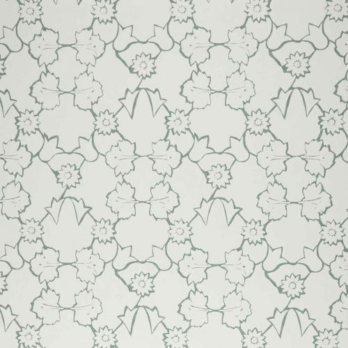 Naked Angelica Wallpaper Moss Green Floral
