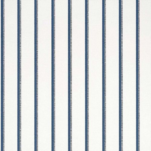 Navy and Cream Striped Wallpaper