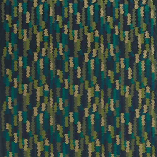 Navy Blue and Green Fabric