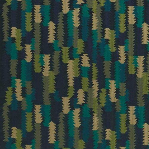Navy Blue and Green Material