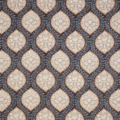 Marguerite Fabric In Brown & Blue