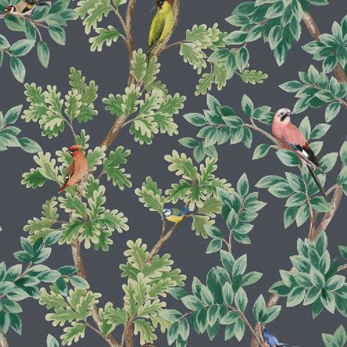 Netherfield Green and Grey Wallpaper