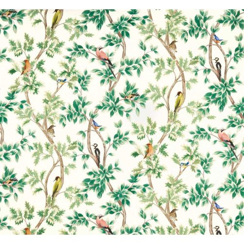 Netherfield Linen Union Fabric Cream Green