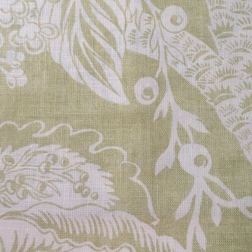New Tree of Life Fabric Lime Green Light