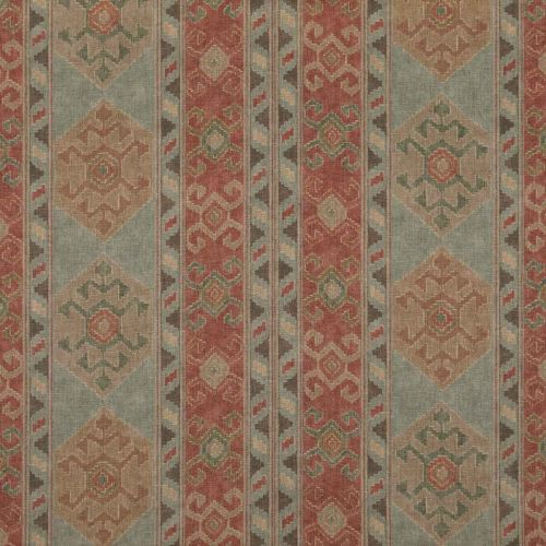 Nomad Fabric Antique Red Blue Printed