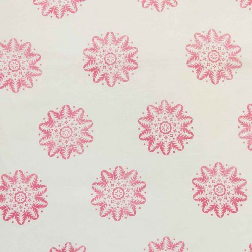 Nordic Linen Fabric Pink Printed
