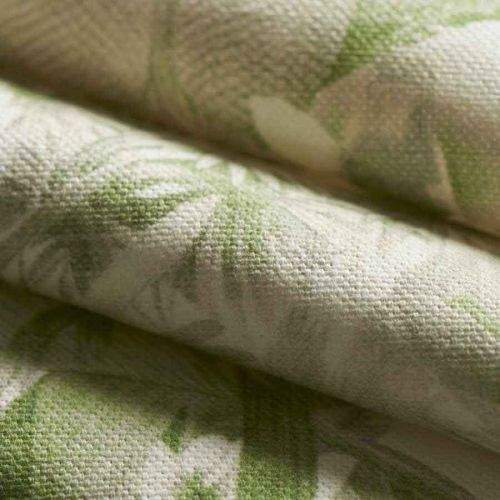 Palm Green Toile Cotton Curtain Fabric