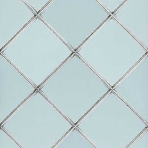 Palm House Trellis Wallpaper Blue