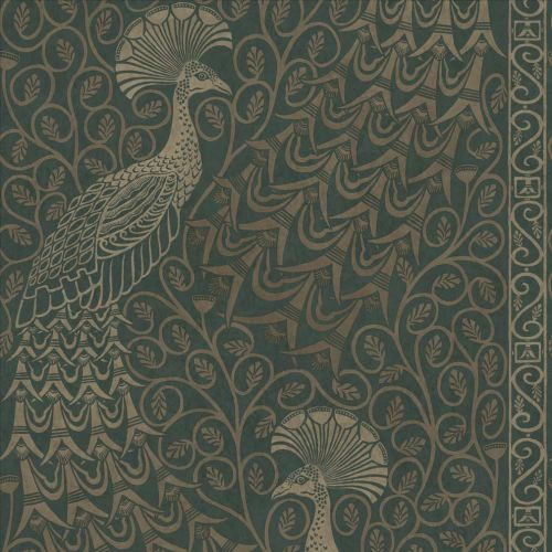 Pavo Parade Silver and Green