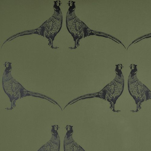 Pheasant Wallpaper in Green from F&P Interiors