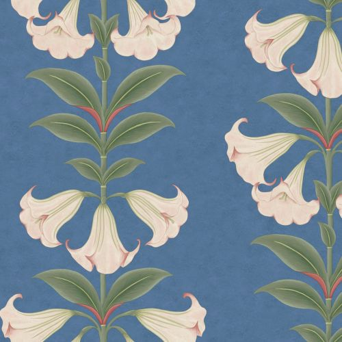 Pink and Blue Floral Wallpaper