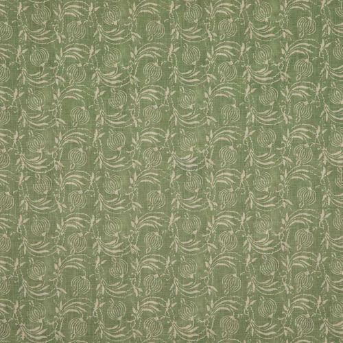 Pomegranate Green Printed Neutral Fabric