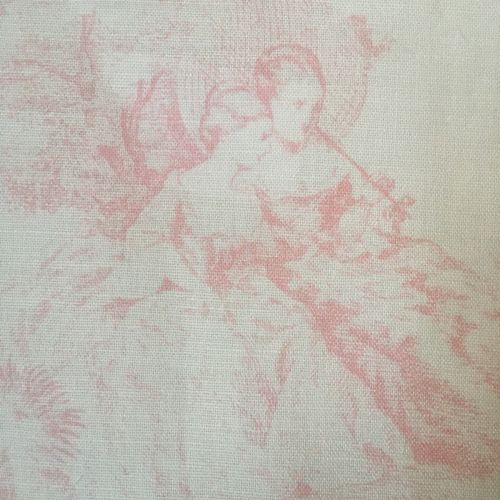Pompadour Toile Fabric Old Pink Blush