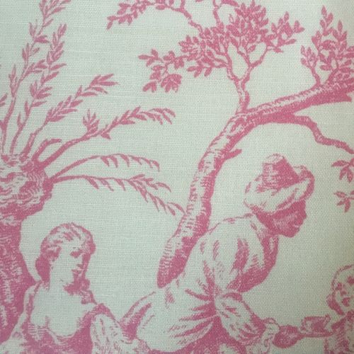 Pompadour Toile Fabric Peony Pink