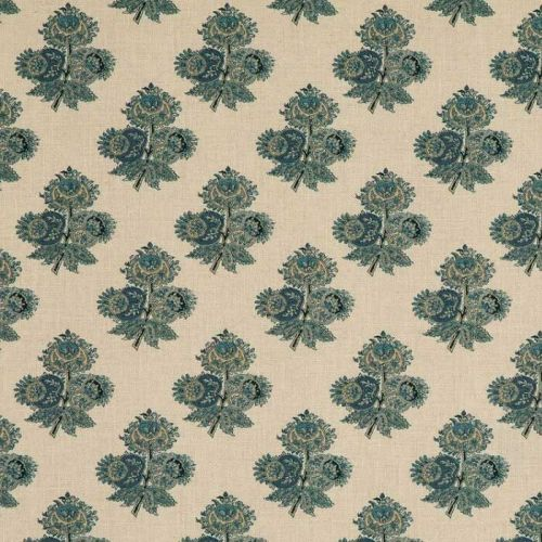 Poppy Small Print Blue Paisley Fabric