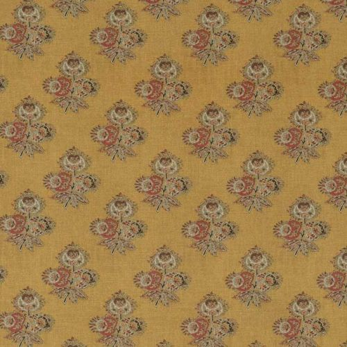 Poppy Yellow and Red Paisley Fabric