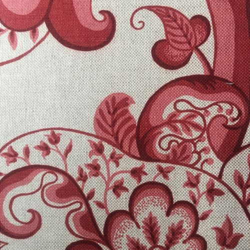 Rajasthan Fabric Red Tree of Life Printed