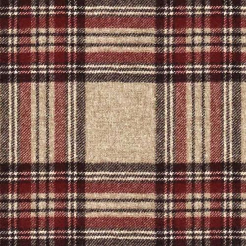Red Check Fabric Moon