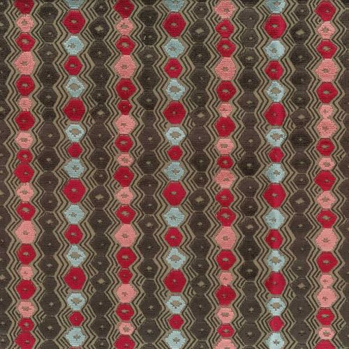 Red Geometric Fabric Marchmain