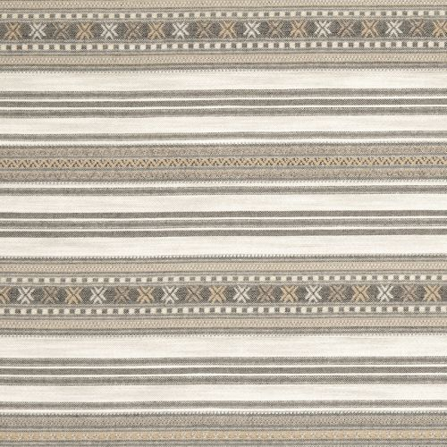 Romany Weave Fabric Natural Neutral Striped