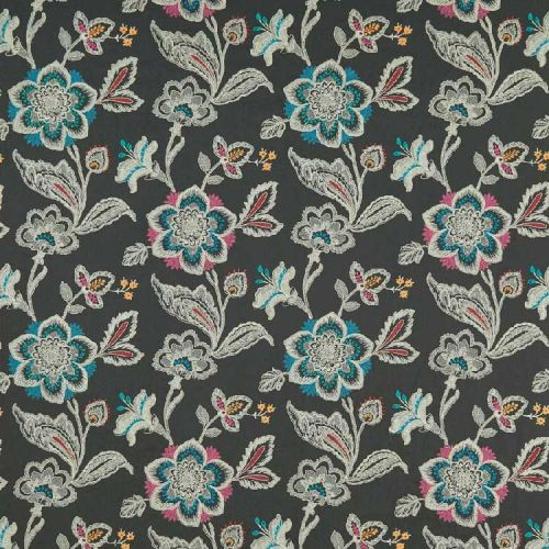 Rosings Embroidered Fabric Brown