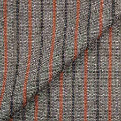 Samoa Stripe Outdoor Fabric Charcoal Grey Ember Red