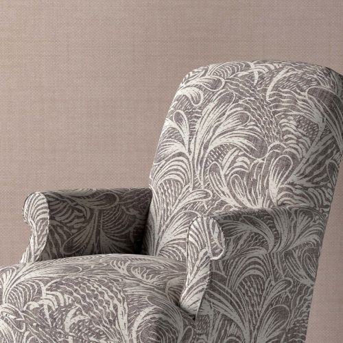 Savernake Dark Grey Leaf Upholstery Fabric