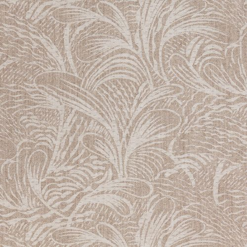 Savernake Neutral Leaf Linen Fabric