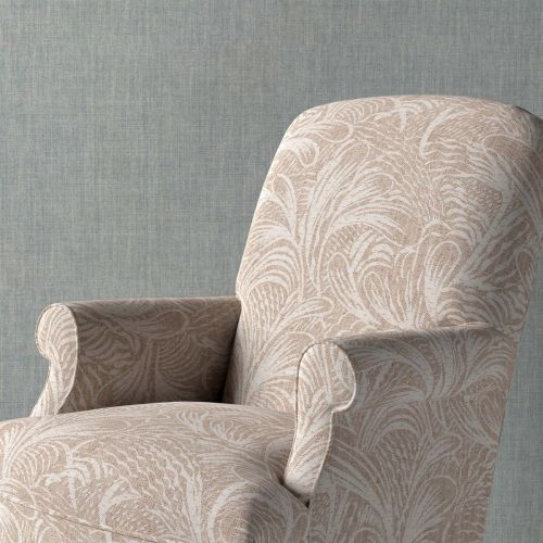 Savernake Neutral Leaf Upholstery Fabric