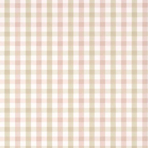 Saybrook Check Wallpaper Pink and Beige