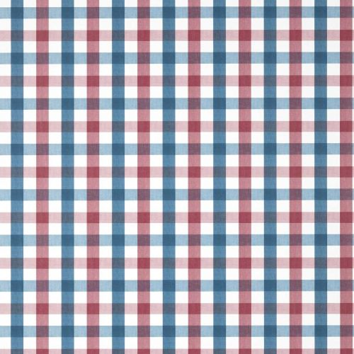 Saybrook Check Wallpaper Red and Blue