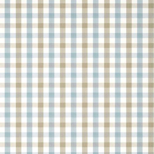 Saybrook Check Wallpaper Blue and Beige