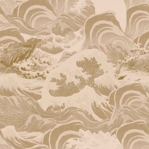 Sea Waves Wallpaper Taupe Neutral