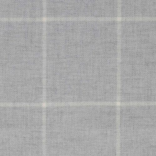 Seren Check Fabric Platinum Light Grey